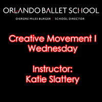 Creative Movement I Wednesday - Katie Slattery